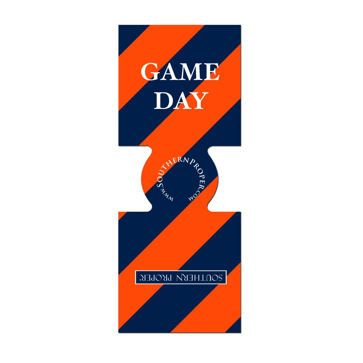 Orange & Navy Gameday Coozie